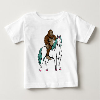 Bigfoot Riding a Unicorn Baby T-Shirt