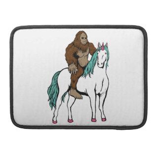 Bigfoot Riding a Unicorn Sleeve For MacBook Pro