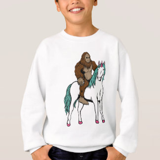 Bigfoot Riding a Unicorn Sweatshirt