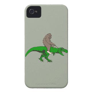 Bigfoot riding T Rex Case-Mate iPhone 4 Cases