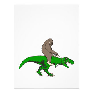 Bigfoot riding T Rex Letterhead