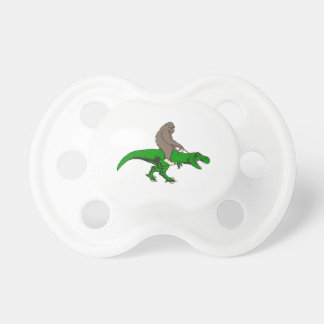 Bigfoot riding T Rex Pacifier