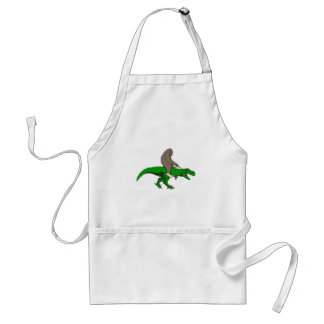 Bigfoot riding T Rex Standard Apron