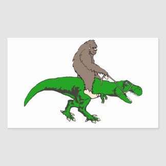 Bigfoot riding T Rex Sticker