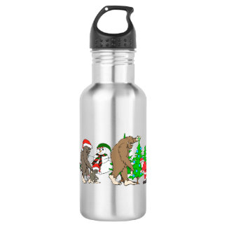 Bigfoot Santa snowman 532 Ml Water Bottle