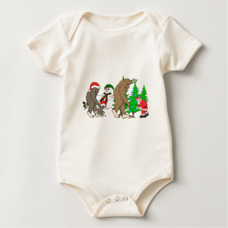 Bigfoot Santa snowman Baby Bodysuit