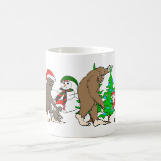 Bigfoot Santa snowman Coffee Mug