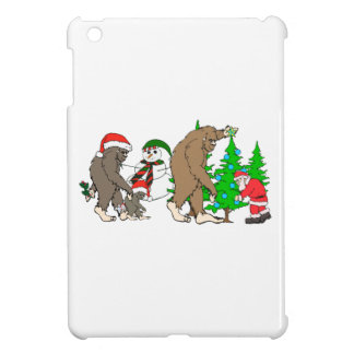 Bigfoot Santa snowman iPad Mini Cases
