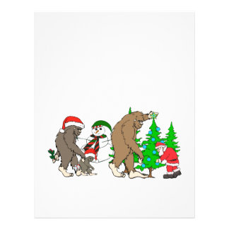 Bigfoot Santa snowman Letterhead
