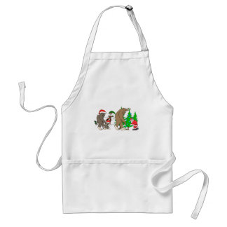 Bigfoot Santa snowman Standard Apron