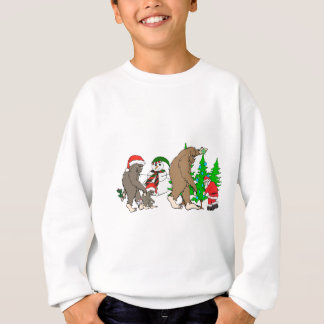 Bigfoot Santa snowman Sweatshirt