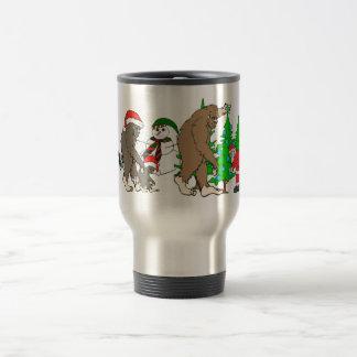 Bigfoot Santa snowman Travel Mug