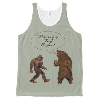 Bigfoot& Sasquatch disagreemen Printed Unisex Tank