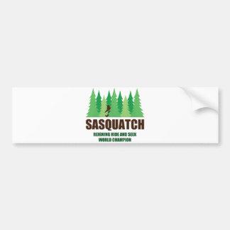 Bigfoot Sasquatch Hide and Seek World Champion Bumper Sticker