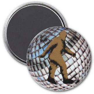 Bigfoot Sasquatch on Disco Ball Magnet