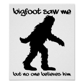 Bigfoot Saw Me Funny Poster