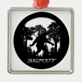 Bigfoot Silhouette Metal Ornament