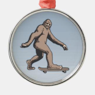 Bigfoot Skateboard Metal Ornament