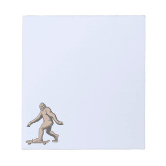 Bigfoot Skateboard Notepad