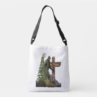 Bigfoot t-shirts crossbody bag