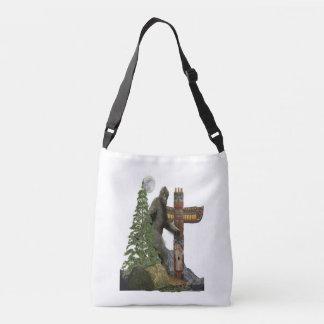 Bigfoot t-shirts crossbody bag