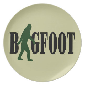 Bigfoot text & green squatch graphic plates