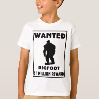 Bigfoot Wanted Poster T-Shirt