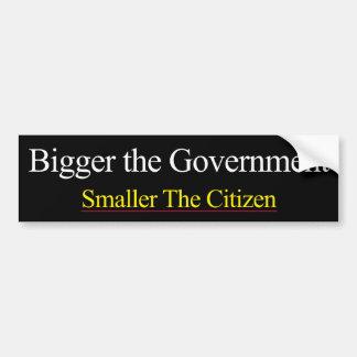 Bigger Government Smaller Citizen Bumper Sticker