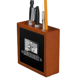 Biggest TV Football Fan! Humorous Gameologist Desk Organizer