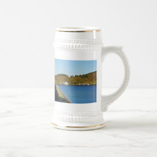 Biggetalsperre in the autumn beer stein