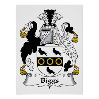 Biggs Family Crest Poster