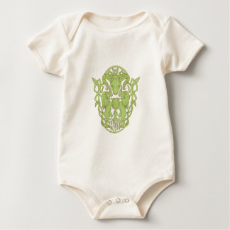 Bighorn Sheep Lion Tree Coat of Arms Celtic Knot Baby Bodysuit