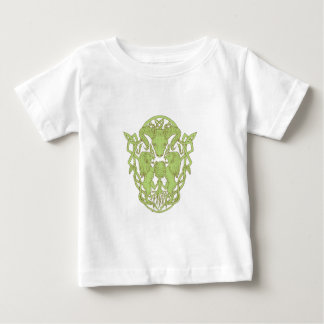 Bighorn Sheep Lion Tree Coat of Arms Celtic Knot Baby T-Shirt