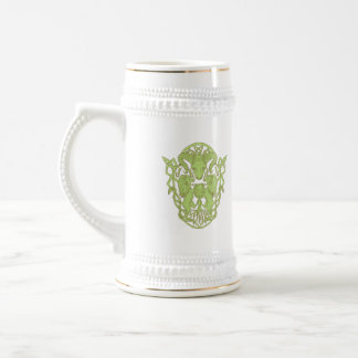 Bighorn Sheep Lion Tree Coat of Arms Celtic Knot Beer Stein