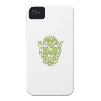 Bighorn Sheep Lion Tree Coat of Arms Celtic Knot Case-Mate iPhone 4 Case