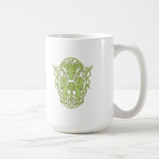 Bighorn Sheep Lion Tree Coat of Arms Celtic Knot Coffee Mug