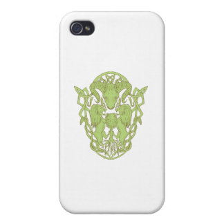 Bighorn Sheep Lion Tree Coat of Arms Celtic Knot Cover For iPhone 4