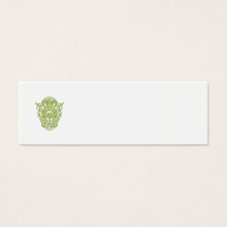Bighorn Sheep Lion Tree Coat of Arms Celtic Knot Mini Business Card