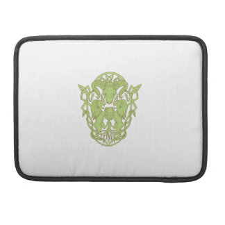Bighorn Sheep Lion Tree Coat of Arms Celtic Knot Sleeve For MacBooks