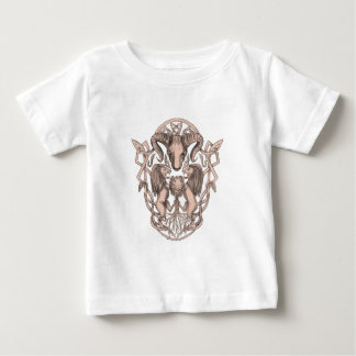 Bighorn Sheep Lion Tree Coat of Arms Celtic Knotwo Baby T-Shirt