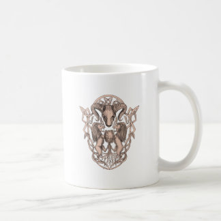 Bighorn Sheep Lion Tree Coat of Arms Celtic Knotwo Coffee Mug