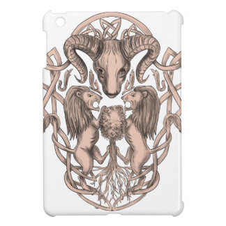 Bighorn Sheep Lion Tree Coat of Arms Celtic Knotwo iPad Mini Cover