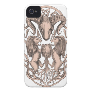 Bighorn Sheep Lion Tree Coat of Arms Celtic Knotwo iPhone 4 Case