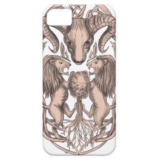 Bighorn Sheep Lion Tree Coat of Arms Celtic Knotwo iPhone 5 Covers