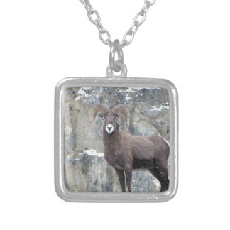 Bighorn Sheep Silver Plated Necklace