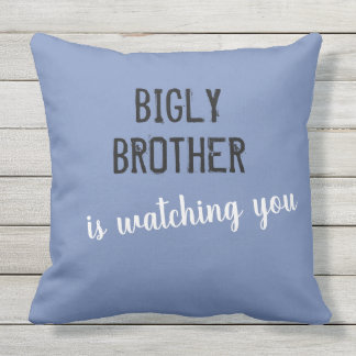 Bigly brother is watching you outdoor pillow