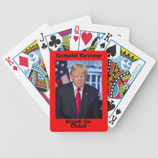 Bigot In Chief - Anti Trump Bicycle Playing Cards