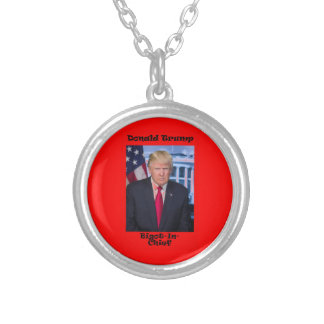 Bigot In Chief - Anti Trump Silver Plated Necklace