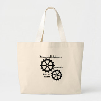 bigsteamybelly large tote bag