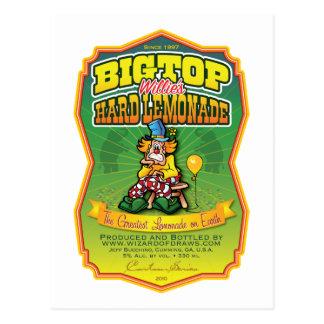Bigtop Willie's Hard Lemonade Postcard